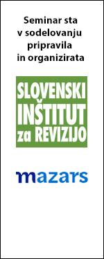 Seminar sta v sodelovanju pripravila in organizirata Slovenski inštitut za revizijo in Mazars